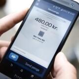 Mobilepay runder 1 mia. kr. i betalinger. Arkivfoto.