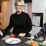 Camilla Hansen med sine døtre Andrea Jensen på to år og storsøster Alberte jensn på seks år. Camilla Hansen har ikke tal på, hvor mange gange hun har været til læge med sine to piger.