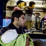 Flygtninge på Københavns Hovedbanegård, aftenen og natten til den 27. november 2015.