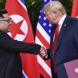 Fem timer på et topmøde tog det den amerikanske præsident, Donald Trump, at knytte »et særligt bånd« til Nordkoreas leder, Kim Jong-un. Foto: Susan Walsh/Ritzau Scanpix.