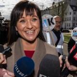 sendxnet Sophie Løhde ankommer til forhandlinger i Forligsinstitutionen i København. Forhandlere på det statslige, kommunale, og regionale område mødes til forhandlinger i Forligsinstitutionen i København, fredag den 27. april 2018. (foto: Martin Sylvest/Scanpix Ritzau 2018)