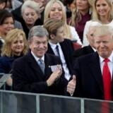 Donald Trump er nu officielt USA's præsident. Scanpix/Alex Wong