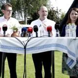 Brian Mikkelsen, Søren Pape Poulsen og Mette Abildgaard fra Det Konservative Folkeparti inviterer holder til pressemøde i forbindelse med partiets sommergruppemøde.