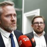 Udenrigsminister Anders Samuelsen (LA) efter forhandlingerne om finansloven med Dansk Folkeparti i Statsministeriet fredag d. 8. december 2017. (Foto:Martin Sylvest/Scanpix 2017)
