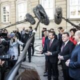 Ministerrokade på Amalienborg d. 28. november 2016. Den nye regering præsenteres