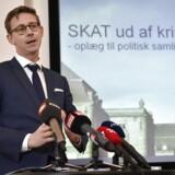 ARKIVFOTO: Skatteminister Karsten Lauritzen (V) siger, at han nu går i gang med at forberede et oplæg til en kommission, før han indkalder til drøftelser med Folketingets partier.