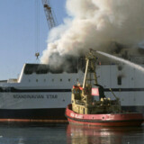 """Branden på skibet """"Scandinavian Star"""" i 1990 kostede 159 personer livet. Scanpix/Claus Bjørn Larsen"""