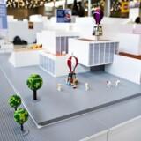 LEGO åbner et nyt oplevelseshus i Billund i efteråret 2017. Her ses en en model af bygningen - i LEGO. (Foto: Ida Guldbæk Arentsen/Scanpix 2017)