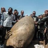 Faraostatue af Ramses II fundet i Egypten.