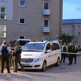 Tre unge er uden for livsfare, efter at de blev ramt af skud i Husum onsdag aften. Presse-fotos.dk/Ritzau Scanpix