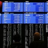 Arkivfoto. De asiatiske aktiemarkeder ligger med pæne stigninger onsdag morgen, hvor investorerne søger efter gode tilbud og ryster de geopolitiske spændinger af sig, dagen efter at Nordkorea affyrede et missil hen over det nordlige Japan.