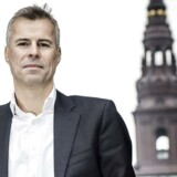 Thomas Larsen foran Christiansborg. Arkivfoto