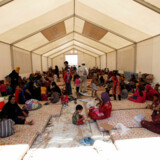 Flygtningelejr nær Mosul i Irak.