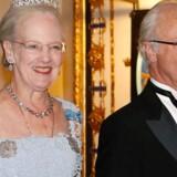 Danske dronning Margrethe er kusine til Sveriges regent, kong Carl Gustaf. Scanpix/Christine Olsson