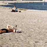 Lad være med at slæbe computer, telefon og iPad med på stranden, da de let kan stresse hjernen, lyder rådet fra hjerneforsker.