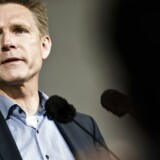 Partiformand for Dansk Folkeparti Kristian Thulesen Dahl under sin tale lørdag på Folkemødet.