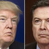 Donald Trump og James Comey.