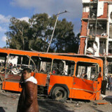 Stedet hvor en terrorbombe tirsdag dræbte 67 mennesker. Foto: Scanpix/AFP