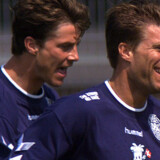 Laudrup-brødrene ses her under træning i VM-lejren i 1998.