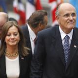New Yorks tidligere borgmester Rudolph Giuliani med sin kone Judith Nathan. Foto: Stan Honda/Reuters