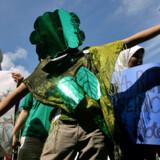 En af de mange demonstrationer omkring det officielle klimamøde. Foto: Jewel Samad / AFP