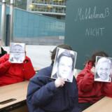 Østrigske skoleelever under en protestdemo mod PISA -undersøgelserne. Foto: Reuters