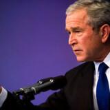 Bush advarede tirsdag aften om, at Iran stadig udgør en trussel. Foto: Scanpix/AFP