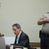 Mormon-leder Warren Jeffs (i midten) under retssagen mod ham i St. George, Utah. Foto: Steve Marcus/Reuters