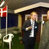 Arrangørerne ved Dansk Folkepartis landsmøde i Odense i går havde sørget for lidt kolonihavehygge.