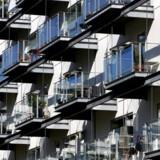 Markedet for projektlejligheder har taget en hård opbremsning - her lejlighedskompleks på Teglholmen i Københavns Sydhavn. Arkivfoto: Bax Lindhardt