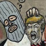 Karikatur af Donald Trump fra Havana, Cuba. EPA/Alejandro Ernesto