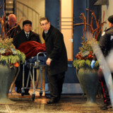 """One of two bodies is removed from the home of billionaire founder of Canadian pharmaceutical firm Apotex Inc., Barry Sherman and his wife Honey, who were found dead under circumstances that police described as """"suspicious"""" in Toronto, Ontario, Canada, December 15, 2017. REUTERS/Chris Helgren"""