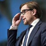 Her ses økonomi- og indenrigsminister Simon Emil Ammitzbøll på talerstolen.