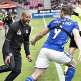David Nielsen forlanger endnu en toppræstation, hvis Lyngby skal lykkes med at slå Slovan Bratislava sammenlagt i Europa League. Scanpix/Henning Bagger