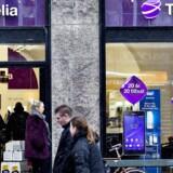 Telias mobilkunder i Danmark skal forvente prisstigninger som følge af EUs krav om at få fjernet roaminggebyret fra 15. juni. Arkivfoto: Nils Meilvang, Scanpix