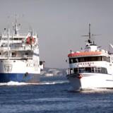 Arkivfoto. Nu vil HH Ferries, der sejler mellem Helsingør og Helsingborg, ombygge to færger til batteridrift.