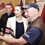 Socialdemokratiets formand Mette Frederiksen indledte sin 1.maj ved at tale på Fritidscentret Vestergade i Randers.