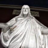 Statue af Jesus Kristus på Thorvaldsens Museum i København.