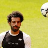 Liverpools Mohamed Salah skal lørdag forsøge at vinde Champions League-trofæet med Liverpool, når holdet møder Real Madrid i finalen. Andrew Yates/Reuters