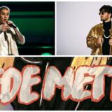 Fra venstre øverst: Justin Bieber, Gulddreng og Blaks sang »Nede Mette« hittede hos danskerne i 2016.