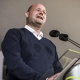Konservatives formand Søren Pape Poulsen holder partiledertale på den store scene til Folkemødet.