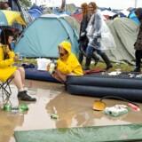 Regn på Roskilde Festival.