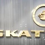 Told og Skat's nye logo sat op på Østbanegade.