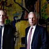 Christian Frigast (til højre) er afgående chef i kapitalfonden Axcel. Christian Schmidt-Jacobsen (til venstre) er kapitalfondens nye chef. Arkivfoto.