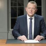 Statsminister Lars Løkke Rasmussen holder sin nytårstale på Marienborg.