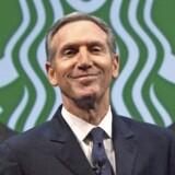Howard Schultz dropper fra april topchefjobbet i Starbucks og bliver i stedet formand. Foto: Reuters