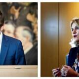 Socialdemokratiets Peter Hummelgaard Thomsen og tidligere S-statsminister Helle Thorning-Schmidt.