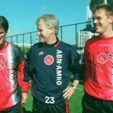 Morten Olsen hentede som træner Michael Laudrup til Ajax i 1997. Sportsligt blev det en succes, men siden blev Laudrup viklet ind i en kompliceret skattesag. Scanpix/Erik Luntang