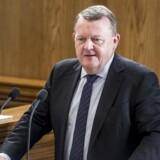 Statsminister Lars Løkke Rasmussen (V) under Folketingets afslutningsdebat på Christiansborg i København onsdag 30. maj.