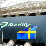 Musiktjenesten Spotify, der blev stiftet af svenskerne Daniel Ek og Martin Lorentzon, blev tirsdag noteret på den amerikanske børs